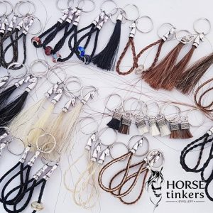 Horse Tail and Dandy Brush Key Rings